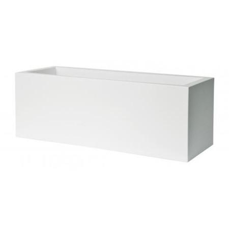 Jardiniere Exterieur Plastique L80cm blanc