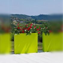 Jardiniere Muret Couleur L80cm - contexte vert