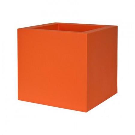 Jardiniere Bac a Fleur Cube 40cm orange
