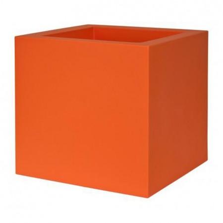 Jardiniere Bac a Fleur Cube 50cm orange
