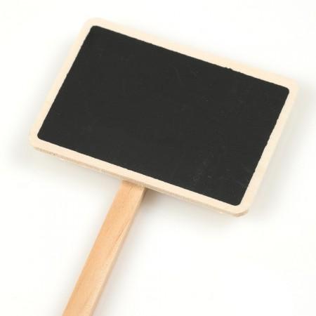 Etiquette de jardin, etiquette ardoise, lot de 5,  h27.5cm, étiquette7x5cm détail