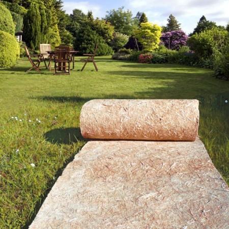 Feutre de paillage Jardin, paillage chanvre en Rouleau L:89cm