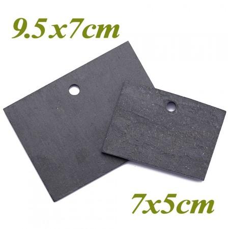 5 étiquettes ardoise naturelle 9.5x7cm - 2
