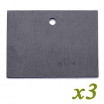 Etiquette Ardoise Naturelle 9.5 x 7cm - x3