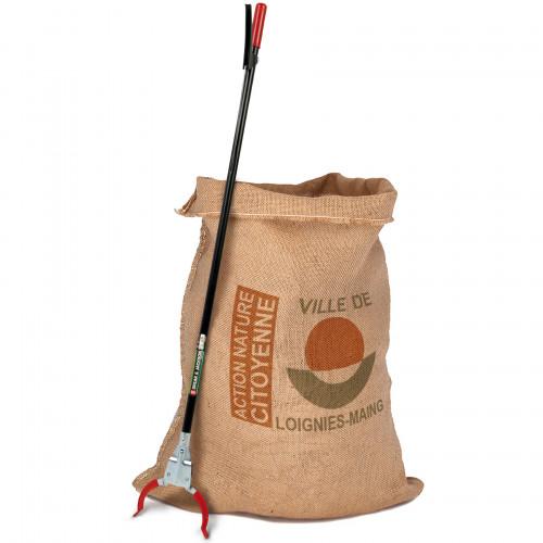 Nettoyons la nature, kit sac recyclable et pince de ramassage personnalisé