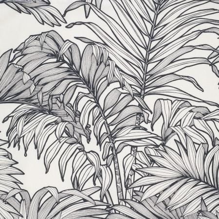 Bain de Soleil Toile motif noir et blanc