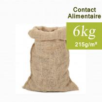 Sac toile de Jute Contact alimentaire 6kg, 32x51cm 215 g/m²