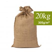 Sac de Jute Sable 20kg, 40x70cm 305g/m²