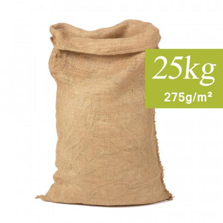 Sac en Toile de Jute Naturel 25kg, 50x80cm 275g/m²