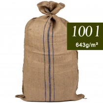 Sac toile de jute grand format 100 l solide 1