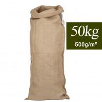 Sac en jute solide 50kg 55x145cm 500g/m²