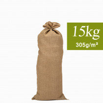 Sac en Toile de Jute naturel 15kg, long 35x85cm 305g/m²