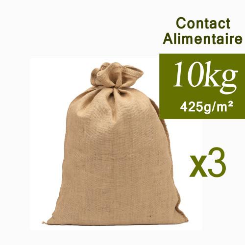 Sac toile de Jute 10kg Contact Alimentaire