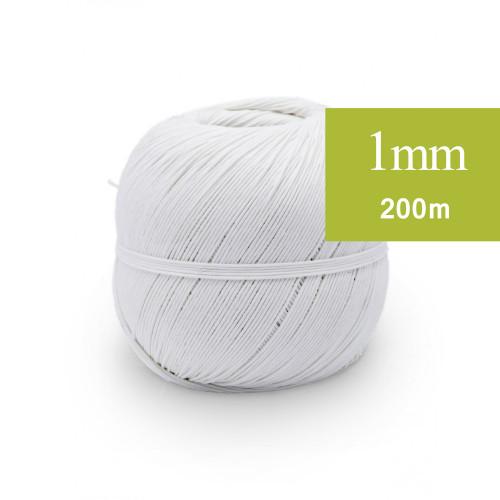 Ficelle de Lin 1mm blanc