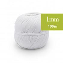 Ficelle de lin 1mm, 100m blanc