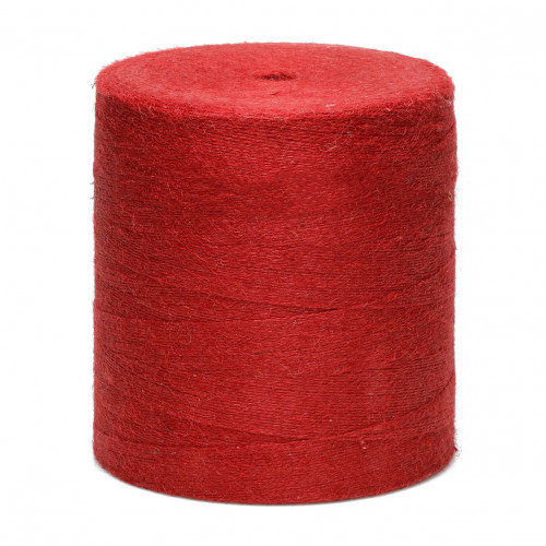 Ficelle de jute, fil rouge 2 mm en bobine Fournisseur 6,5km