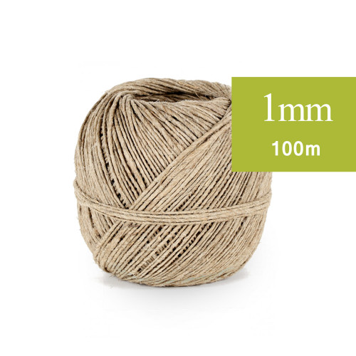 Ficelle de Lin, fil Naturel 1mm 100m