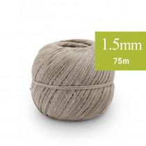 Ficelle Lin Ecrue et fil de fer 1.5 mm 75m