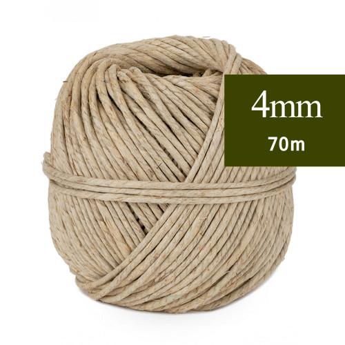 Ficelle de lin fil écrue 4 mm 70m