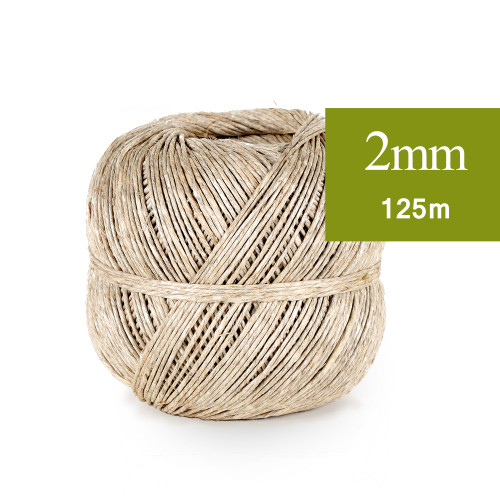 Ficelle de lin naturel 2mm 125m
