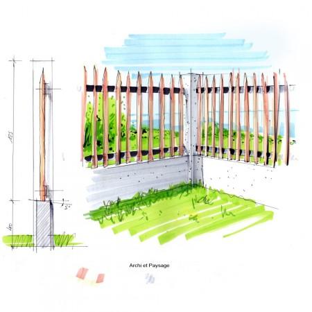 Cloture Bois, Ganivelle2 Archi et Paysage