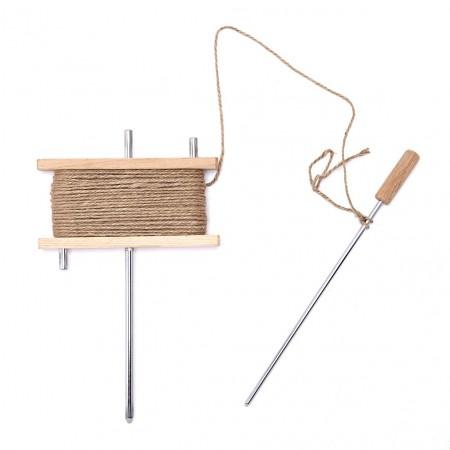 Dévidoir alignement - support bois - piquet acier - avec ficelle jure