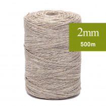 Ficelle de lin Naturel 2mm, fil de lin 500m