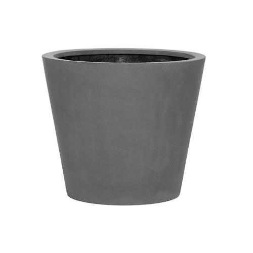 pot vase bucket fiberstone gris 50 cm