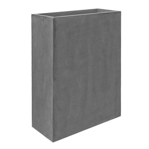 jardiniere-haute-fiberstone-gris-80-cm