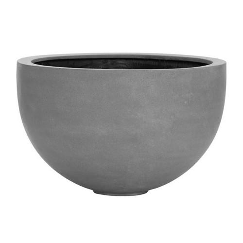 pot large, bol design forme ronde en fiberstone gris 60 cm