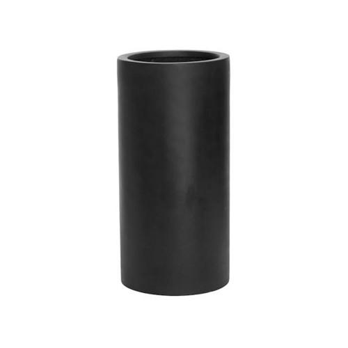 Pot fut haut (cylindre), en fiberstone noir hauteur 60 cm