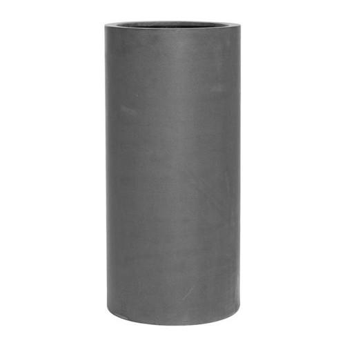 Pot haut (cylindre) en fiberstone gris hauteur 60 cm
