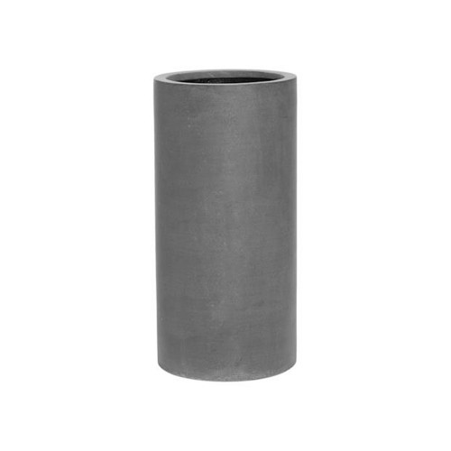 pot haut rond fiberstone gris 60 cm