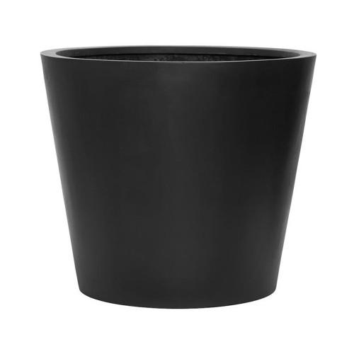 Pot vase fiberstone noir pour exterieur hauteur 60 cm