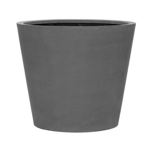 pot vase en fiberstone gris, 60cm design d'exterieur