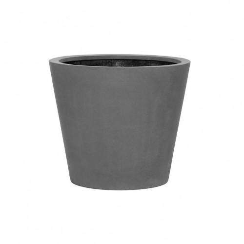 pot vase en fiberstone gris 40cm deco exterieur