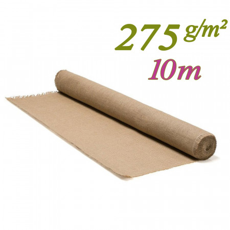 Toile de jute tissage serré 275g/m² pour décoration intérieur et table