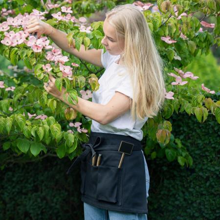 tablier de fleuriste court couleur noir uni