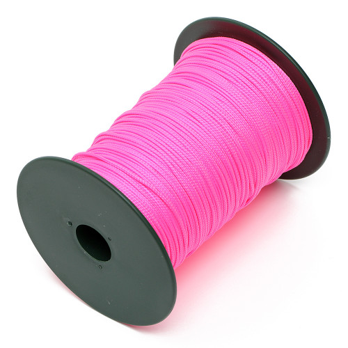 Ficelle 1.5mm rose fluorescent en polypropylène, tresse ronde en 6 brins