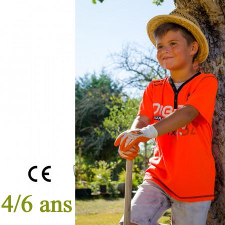 gants jardinage enfant, taille 4, 5 et 6 ans