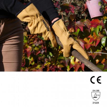Gants de jardinage en cuir XXS (6) et XS (7), femme