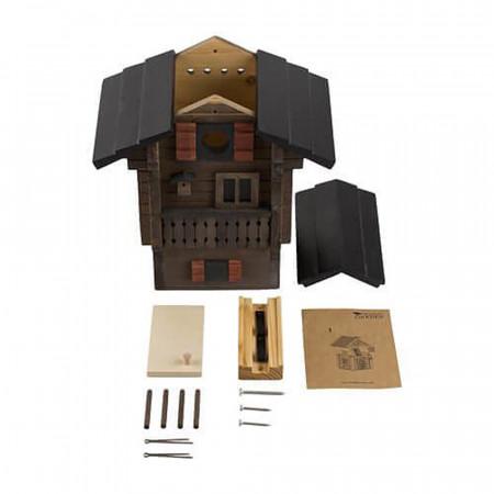 maison pour vos oiseaux, nichoir décor chalet suisse, plan