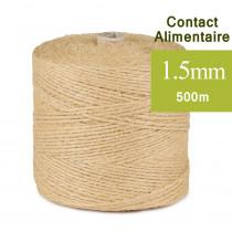 Ficelle Alimentaire fil lin écru 2.5 mm a saucisson