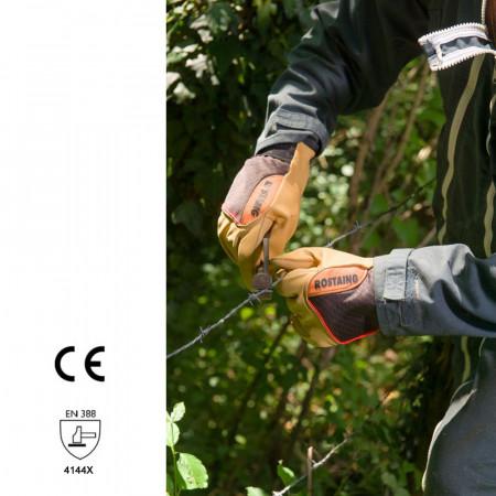 gants agricole en cuir épais et étanche pose de fils barbelés