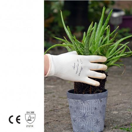 Gants latex sur maille bambou, jardinage et rempotage