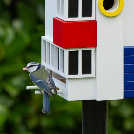 Maison aux oiseaux au jardin