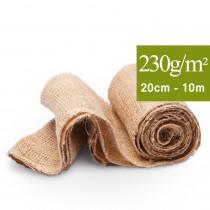 Toile 100% jute largeur 20 cm en bande longueur de 10 m