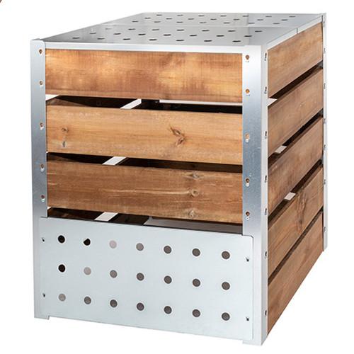 composteur de jardin, pour les déchets de la maison, bois et metal