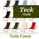 Transat en Teck et Toile Coton