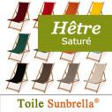 Transat Exterieur, Hêtre Saturé et Toile Sunbrella